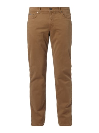 Regular Fit 5-Pocket-Hose mit Futter Braun - 1