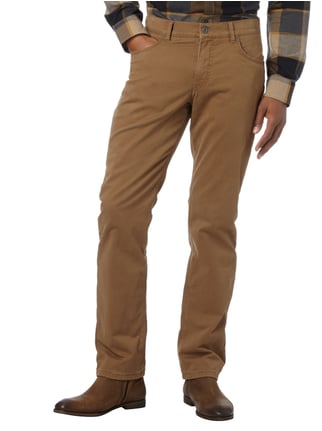 Brax Regular Fit 5-Pocket-Hose mit Futter Camel - 1