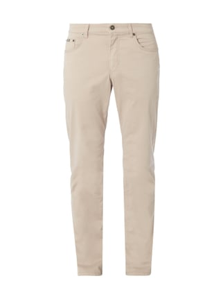 Regular Fit 5-Pocket-Hose mit Stretch-Anteil Weiß - 1