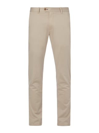 Regular Fit Chino mit Stretch-Anteil Weiß - 1