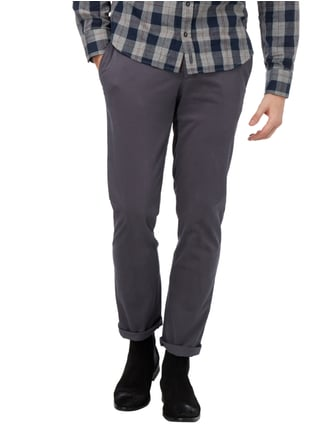 Brax Regular Fit Chino mit Stretch-Anteil Dunkelgrau - 1