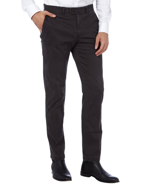 Brax Regular Fit Chino mit Stretch-Anteil Dunkelgrün - 1