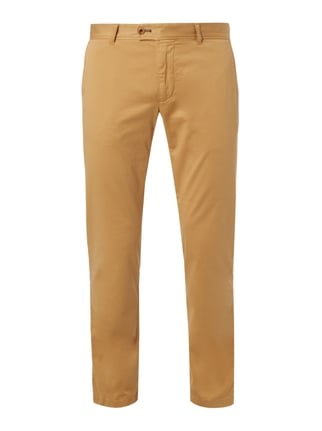 Regular Fit Chino mit Stretch-Anteil Gelb - 1