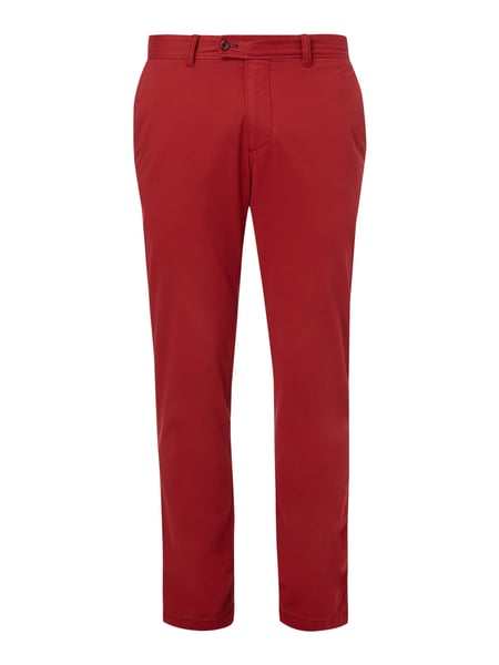 Regular Fit Chino mit Stretch-Anteil Rot - 1
