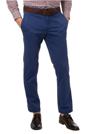 Brax Regular Fit Chino mit Stretch-Anteil Royalblau - 1