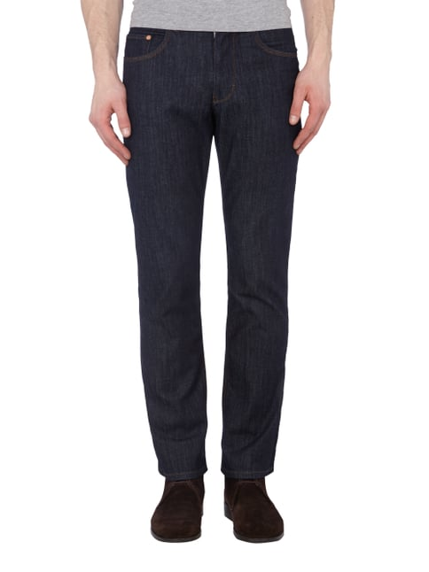 Brax Rinsed Washed Jeans Dunkelblau - 1