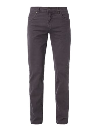 Straight Fit 5-Pocket-Hose mit Stretch-Anteil Grau / Schwarz - 1