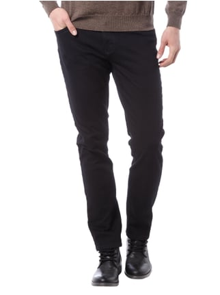Brax Straight Fit Coloured Jeans Schwarz - 1