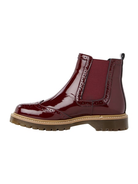 best service fe5a1 d716a BRONX- Chelsea Boots in Lack-Optik in Rot online kaufen ...