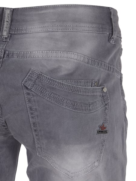 78961e617cc4 BUENA-VISTA Slim Fit Hose im Washed Out Look in Grau   Schwarz ...