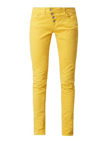 Buena Vista Slim fit jeans met stretch, model 'Malibu' Geel - 1