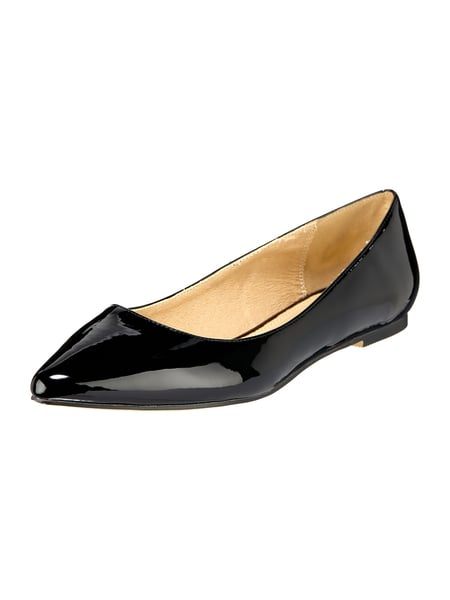 Buffalo Ballerinas in Lackoptik Schwarz