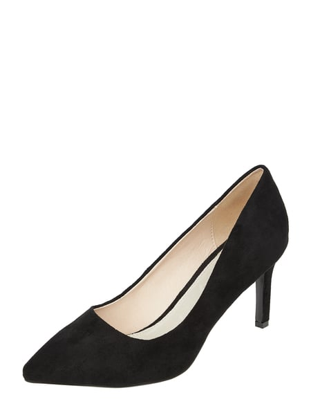 Buffalo Pumps in Veloursleder-Optik Schwarz - 1