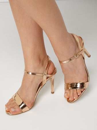 Buffalo Sandalette in Metallicoptik Gold - 1