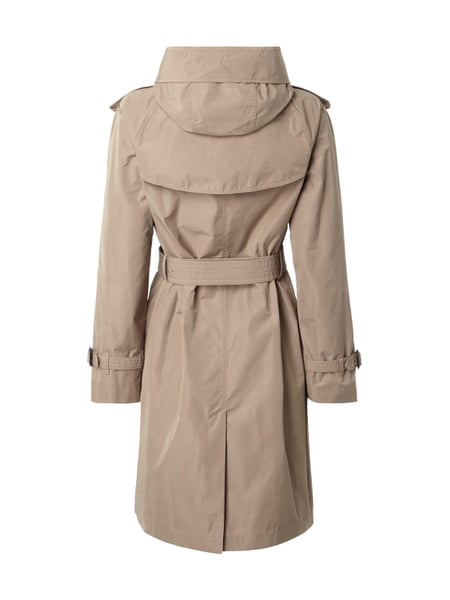 newest 29448 c2b68 BURBERRY-BRIT Trenchcoat mit abnehmbarer Kapuze in Weiß ...