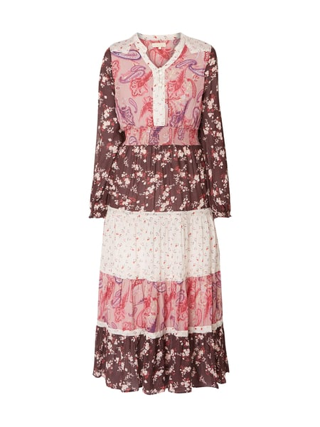 BYTIMO Kleid im Patchwork-Look mit floralem Muster Rosa - 1