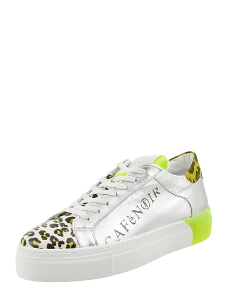 Cafe Noir Sneaker aus Leder in Metallic-Optik Silber - 1