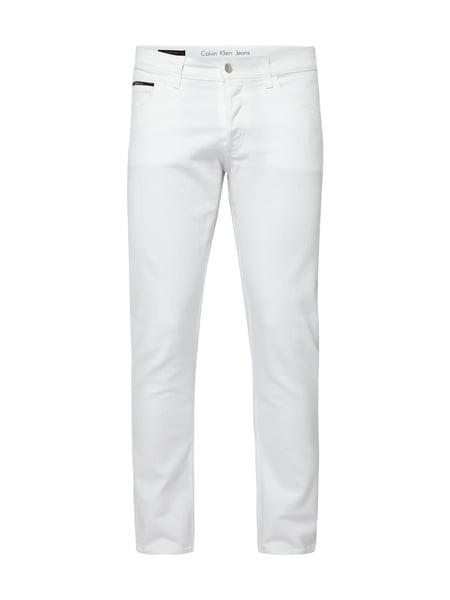 CALVIN-KLEIN-JEANS Coloured Straight Tapered Fit Jeans in Weiß ... 980cdd7dab1