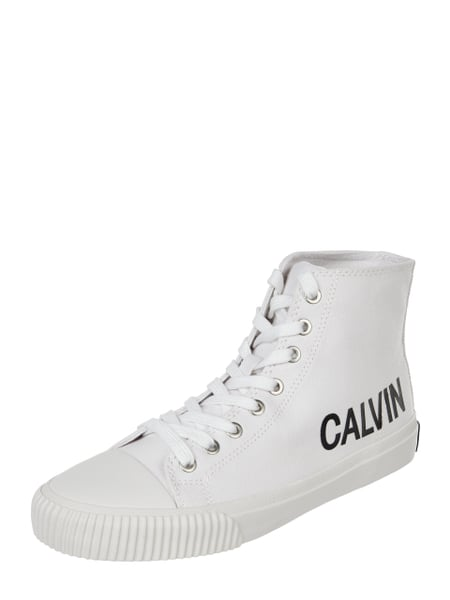 Calvin Klein Jeans High Top Sneaker 'Iole' aus Canvas Weiß - 1
