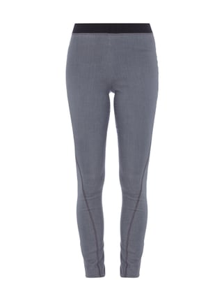 Leggings in Denim-Optik Grau / Schwarz - 1