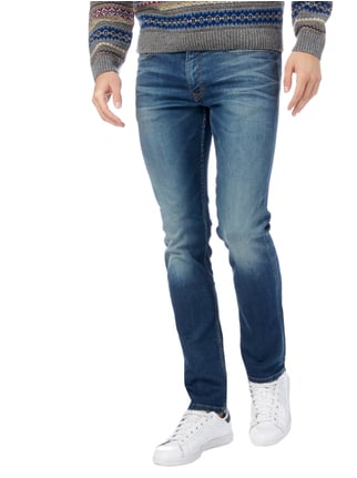 Calvin Klein Jeans Slim Straight Fit Jeans im Light Used Look Jeans - 1