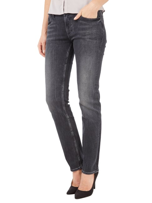 Calvin Klein Jeans Straight Fit Stone Washed Jeans Schwarz - 1