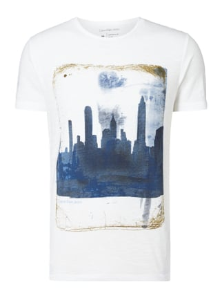 T-Shirt mit New York-Print Weiß - 1