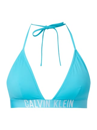 Bikini-Oberteil in Triangel-Form Blau / Türkis - 1