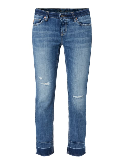 Ankle Cut Jeans im Destroyed Look Blau / Türkis - 1