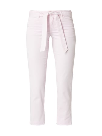 Cambio Coloured Cropped Jeans mit Gürtel Rosa - 1