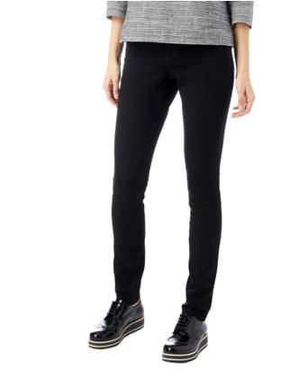Cambio Coloured Skinny Fit 5-Pocket-Jeans Schwarz - 1