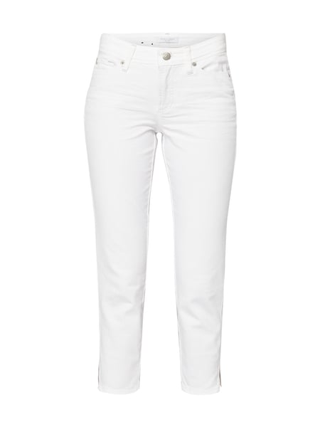Cambio Piper Short - Coloured Skinny Fit Jeans in 7/8-Länge Weiß