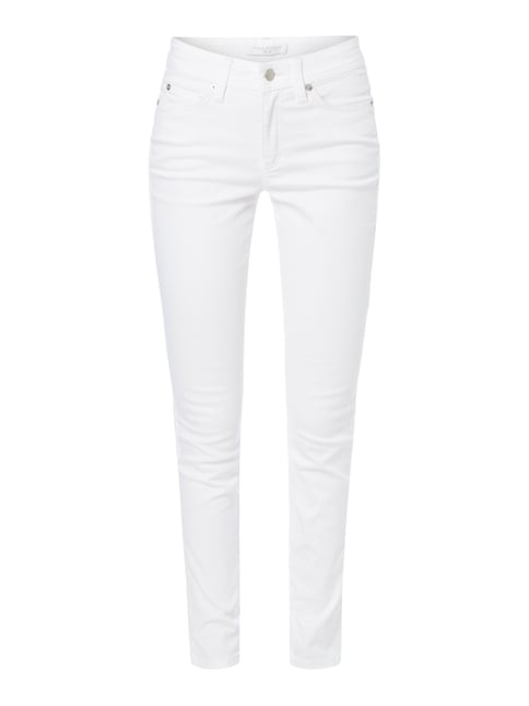 Coloured Skinny Fit Jeans Weiß - 1
