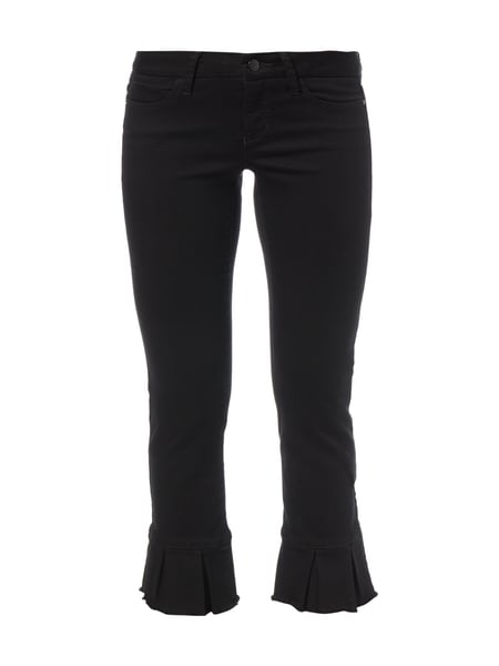 Cambio Lucille - Coloured Slim Fit Jeans in 7/8-Länge Schwarz
