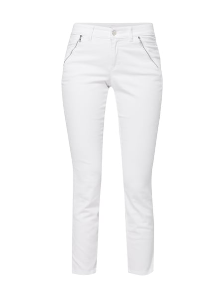 Cambio Parla Zip - Coloured Slim Fit Jeans Weiß