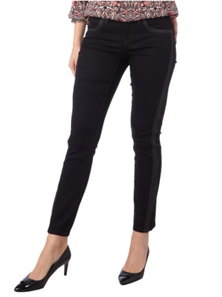 Cambio Coloured Slim Fit Modern Rise Jeans Schwarz - 1