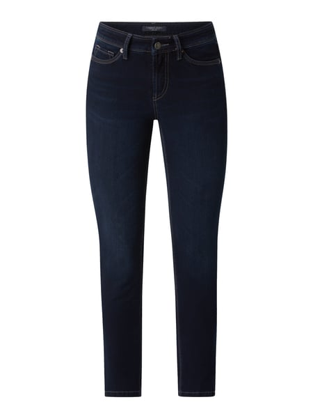 Cambio Cropped Slim Fit Jeans mit Stretch-Anteil Modell 'Piper' Blau - 1