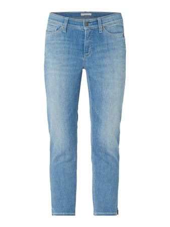 Cambio Cropped Stone Washed Slim Fit Jeans Blau - 1