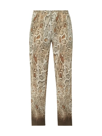 Cambio Easy Pants in Reptilien-Optik Beige - 1