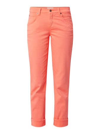 Cambio Jeans in schmaler Passform mit Stretch-Anteil Modell 'Pina' Orange - 1