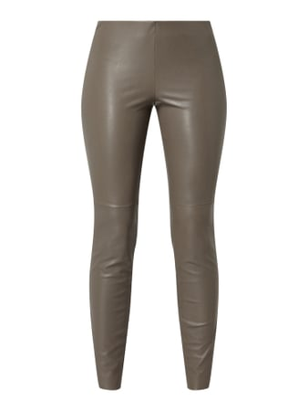 Cambio Leggings in Leder-Optik Beige - 1
