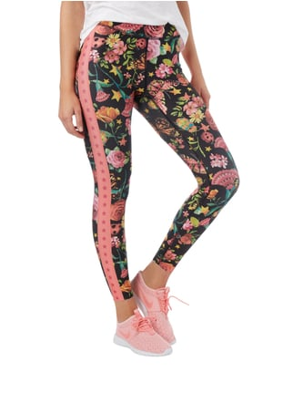 Cambio Leggings mit Allover-Muster Schwarz - 1
