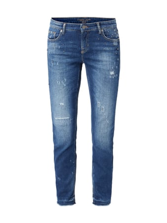 Cambio Leisure Fit Jeans im Used Look Blau / Türkis - 1
