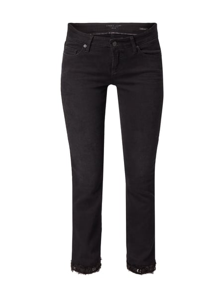 Cambio Modern Rise Jeans aus Coloured Denim Grau / Schwarz - 1