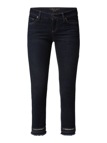 Cambio Rinsed Washed Cropped Jeans Blau - 1