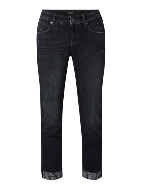 c8fd2ce480f26f Cambio Slim Fit 7/8-Jeans im Used Look Schwarz - 1 ...