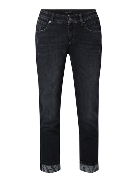 Cambio Slim fit 7/8-jeans in used look Zwart - 1