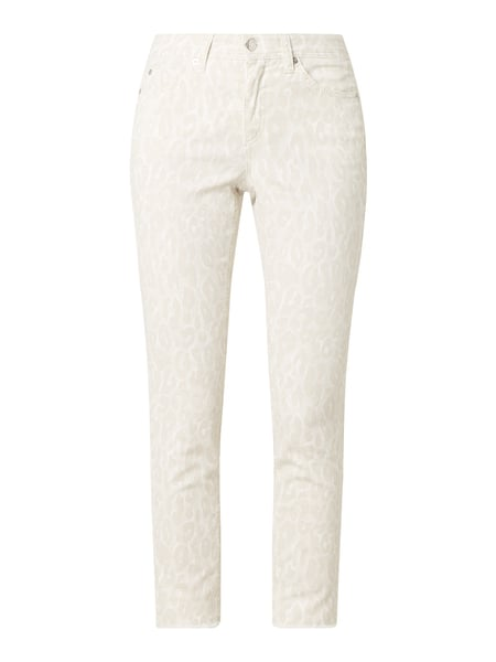 Cambio Slim fit jeans met stretch, model 'Parla' Beige - 1