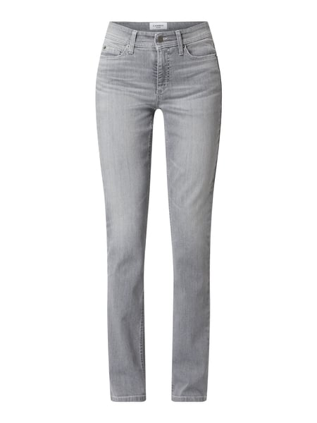 Cambio Slim Fit Jeans mit Stretch-Anteil Modell 'Parla' Grau - 1