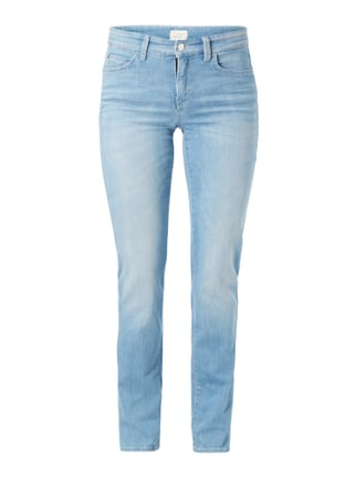Stone Washed 5-Pocket-Jeans Blau / Türkis - 1